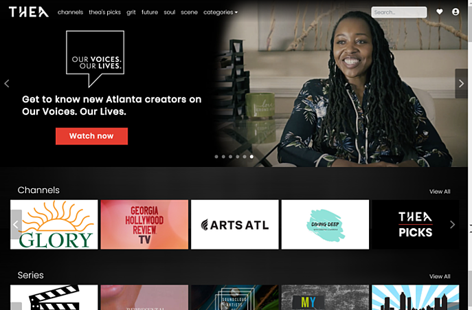 thea home page banners